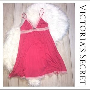 Victoria's Secret Magenta Pink Chemise Nightgown